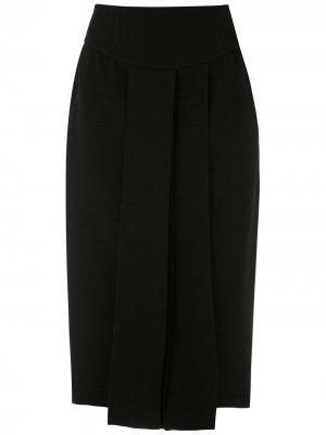 Плиссированная юбка миди Gloria Coelho. Цвет: черный