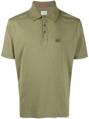 Рубашка поло с короткими рукавами C.P. Company. Цвет: зеленый