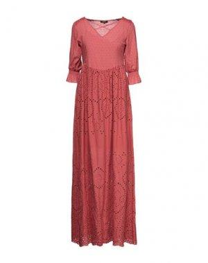 Длинное платье FRACOMINA. Цвет: ржаво-коричневый