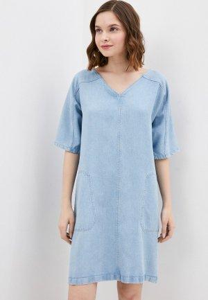 Платье джинсовое Drykorn. Цвет: голубой