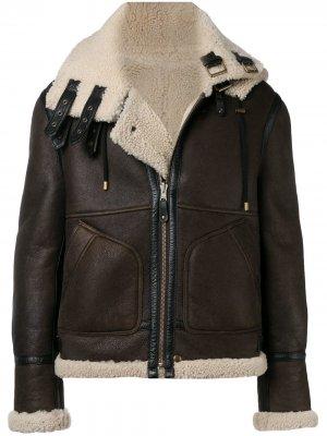 Двухсторонняя куртка с овчиной Faith Connexion. Цвет: коричневый