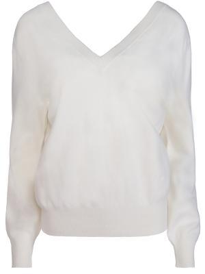 Шерстяной пуловер Victoria Beckham. Цвет: белый