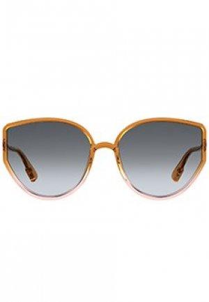 Солнцезащитные очки DIOR. Цвет: оранжевый