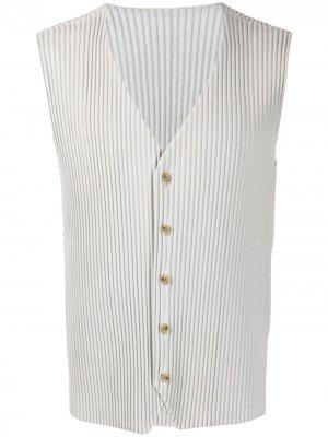 Плиссированный жилет Homme Plissé Issey Miyake. Цвет: серый