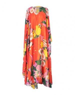 Длинное платье RICHARD QUINN. Цвет: оранжевый