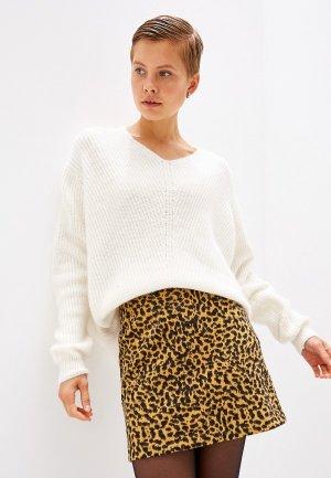 Пуловер Befree. Цвет: белый