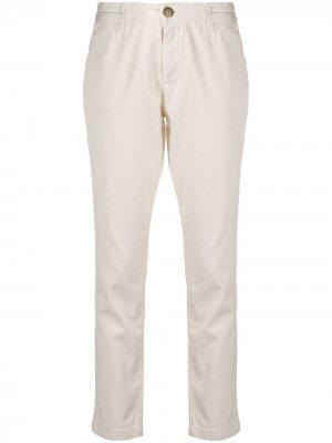 Узкие брюки низкой посадки Current/Elliott. Цвет: нейтральные цвета