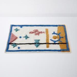 Коврик для ванной 100% хлопок IZLAN LA REDOUTE INTERIEURS. Цвет: рисунок разноцветный