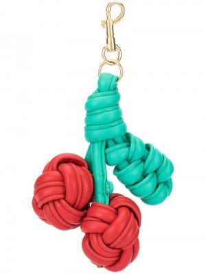 Брелок для ключей в форме вишни Anya Hindmarch. Цвет: красный
