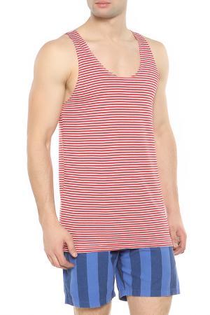 Майки American Apparel. Цвет: red natural stripe