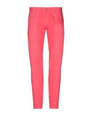 Повседневные брюки HENRY COTTON'S. Цвет: коралловый