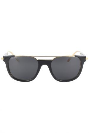 Очки солнцезащитные Salvatore Ferragamo. Цвет: черный, золотой