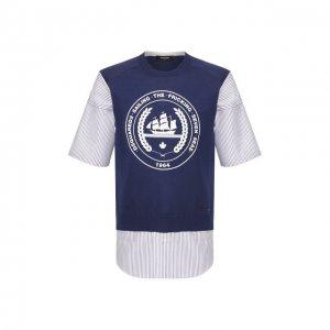 Рубашка с жилетом Dsquared2. Цвет: синий