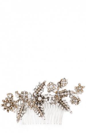Гребень c жемчугом и кристаллами Erickson Beamon. Цвет: серебряный