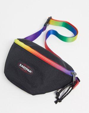 Черная сумка-кошелек с радужной отделкой Springer x Pride-Мульти Eastpak