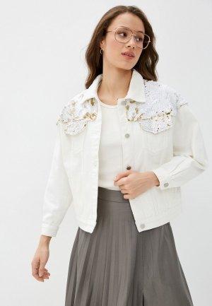 Куртка джинсовая Anastasya Barsukova. Цвет: бежевый