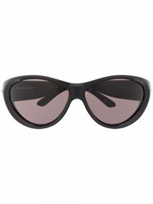 Солнцезащитные очки Balenciaga Eyewear. Цвет: черный