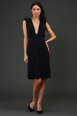 Платье джерси с поясом Jasmine Di Milo. Цвет: синий
