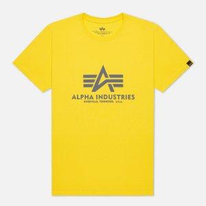 Мужская футболка Basic Alpha Industries. Цвет: жёлтый
