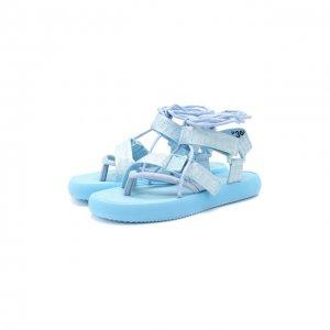 Текстильные сандалии Off-White. Цвет: синий