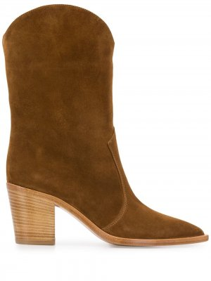 Ковбойские ботинки на каблуке Gianvito Rossi. Цвет: коричневый