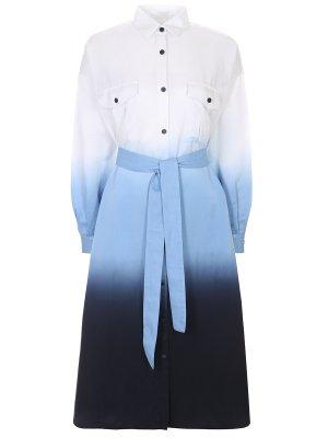 Платье-рубашка хлопковое BOSS