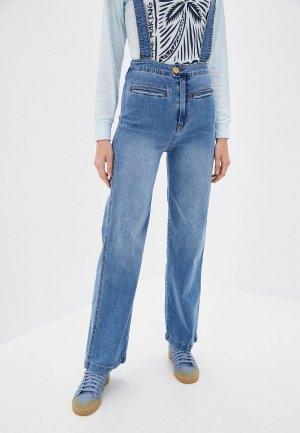 Комбинезон джинсовый Billabong HIGH OF SUMMER. Цвет: голубой