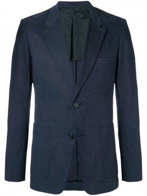 Пиджак на двух пуговицах с частичной подкладкой AMI Paris. Цвет: синий