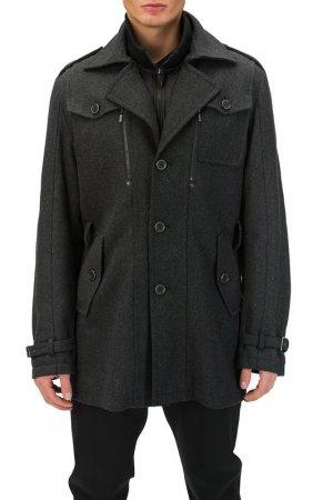 Пальто Basic. Цвет: сер