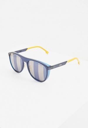Очки солнцезащитные Fendi FF M0085/S PJP. Цвет: синий