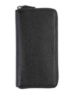 Бумажник BALLY. Цвет: черный