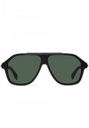 Солнцезащитные очки FENDI. Цвет: зеленый