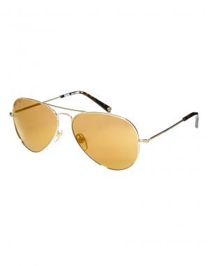 Солнцезащитные очки-авиаторы Michael Kors. Цвет: золотой