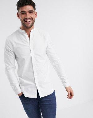Белая оксфордская рубашка с длинными рукавами -Белый New Look