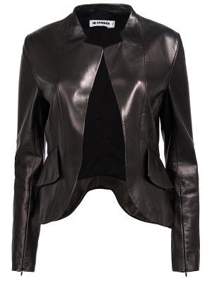 Кожаная куртка Jil Sander. Цвет: черный