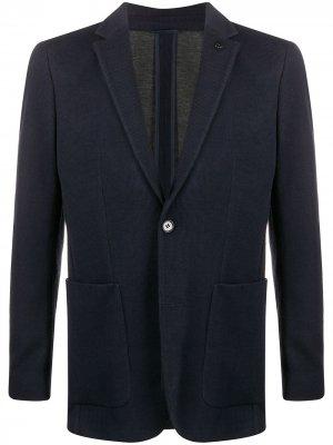 Пиджак узкого кроя Calvin Klein. Цвет: синий