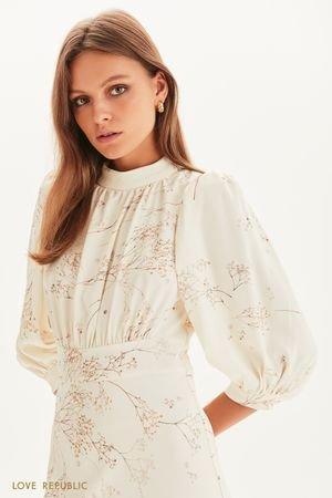 Платье миди с цветочным принтом LOVE REPUBLIC