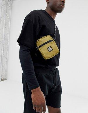 Бежевая сумка для полетов AAPE By A Bathing Ape. Цвет: бежевый