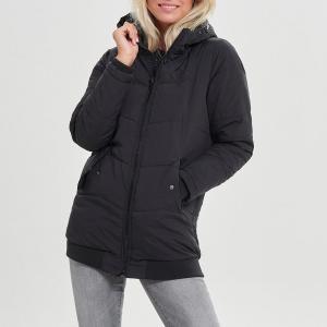 Куртка стеганая спортивная ONLY. Цвет: черный