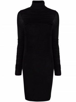 Платье миди с вырезом Pinko. Цвет: черный