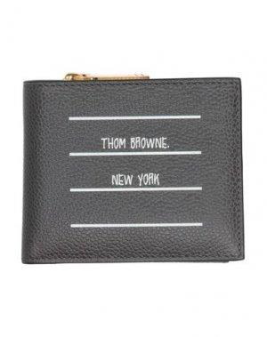 Бумажник THOM BROWNE. Цвет: черный