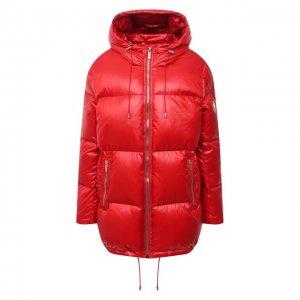 Пуховая куртка MICHAEL Kors. Цвет: красный