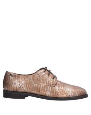 Обувь на шнурках ALEXANDER HOTTO. Цвет: бронзовый