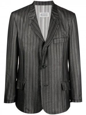 Многослойный пиджак в полоску Maison Margiela. Цвет: черный