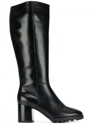 Сапоги с закругленным носком Hogl. Цвет: черный