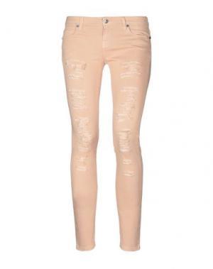 Джинсовые брюки UP ★ JEANS. Цвет: верблюжий