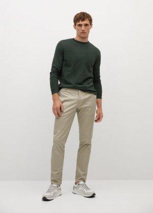 Хлопковая рубашка с длинным рукавом - Gareth Mango. Цвет: хаки
