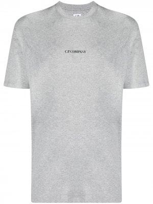 Футболка с логотипом C.P. Company. Цвет: серый