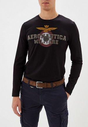 Лонгслив Aeronautica Militare. Цвет: черный