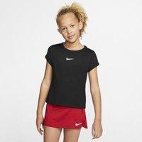 Теннисная футболка для девочек школьного возраста Court Dri-FIT - Черный Nike